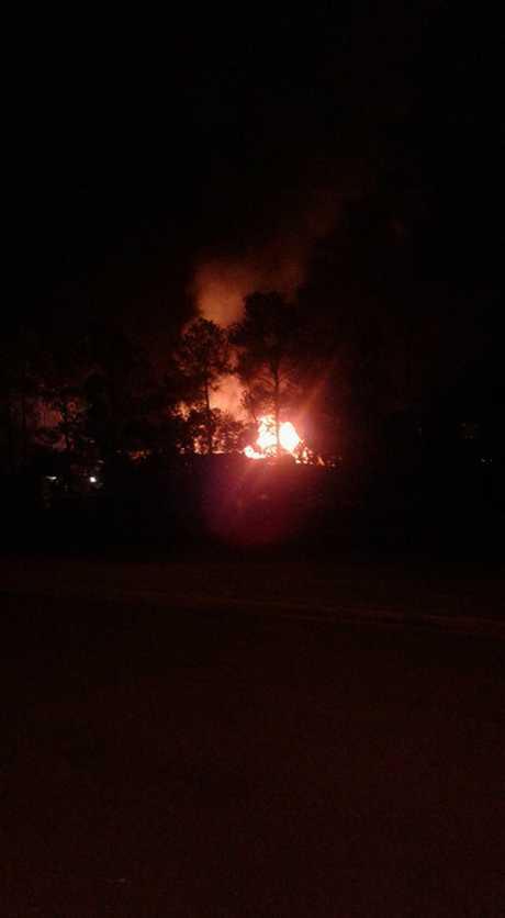 The school fire in Gympie. Photo: Skye Gaskell via Facebook