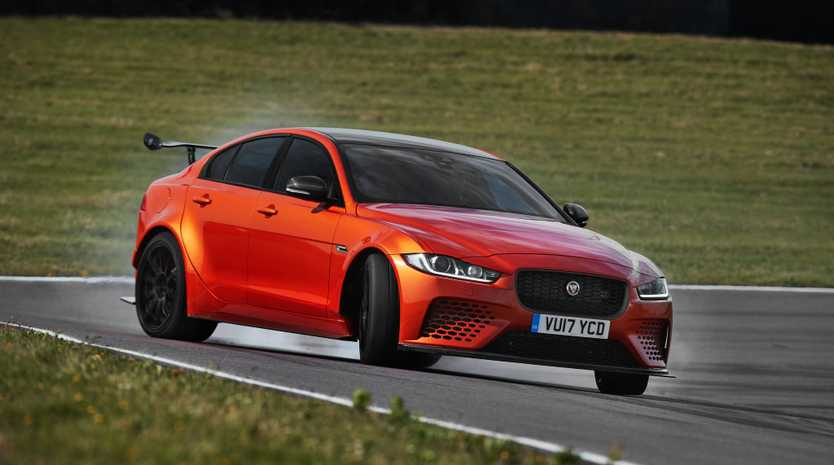 SIDEWAYS ACTION: Only 300 441kW 5.0-litre supercharged V8 Jaguar XE SV Project 8 track specials will be produced, and cost around $250,000