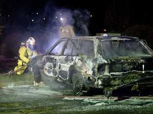 Police probe abandoned car burning in church car park
