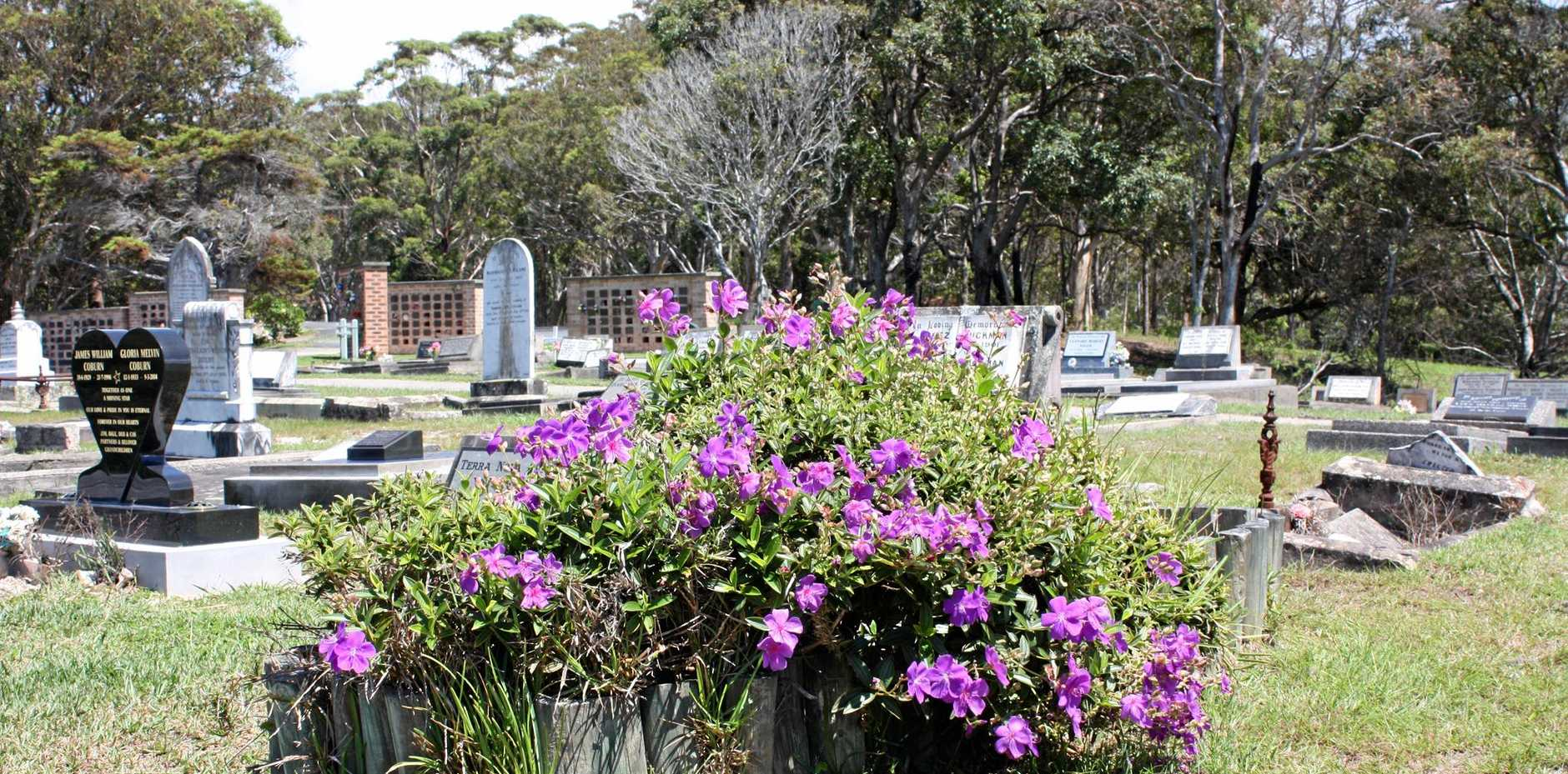 EVERLASTING VIEWS: It may not be a modern bushland burial ground, but Nambucca Heads cemetery has a peaceful ambience, sea views and some colourful new life flourishing among the monuments.