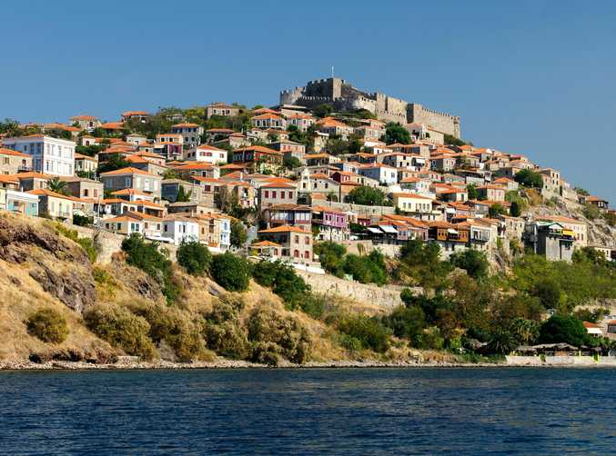 The Greek town of Molyvos, on the Greek island of Lesvos, is recovering after an inundation of refugees from Turkey reduced tourist trade on the island.