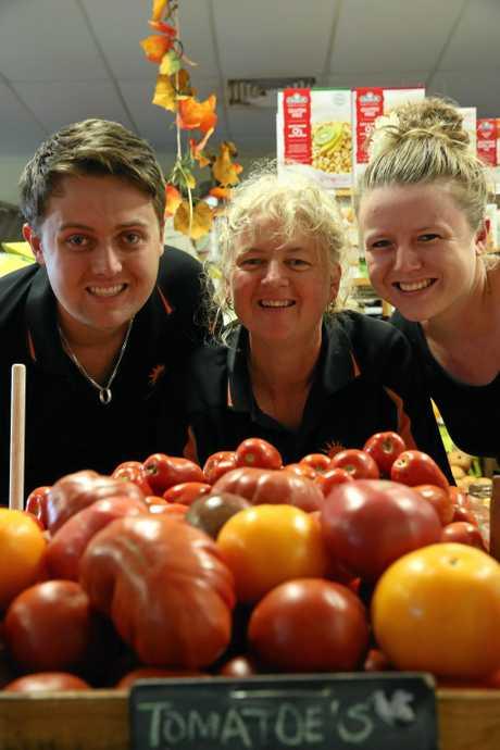 FAMILY OWNED AND RUN: Farmer and Sun's Layton Waugh, Trena Waugh and Sharla Watson