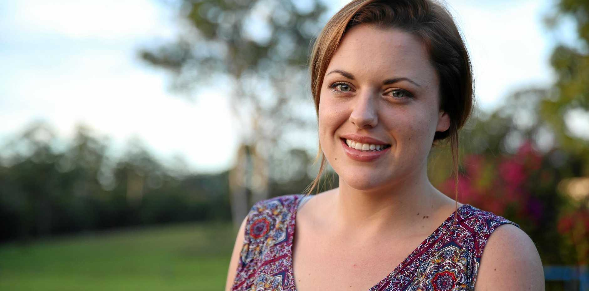 STUDIOUS: Sarah Duffy is one the many Gympie women who have picked up tertiary study.