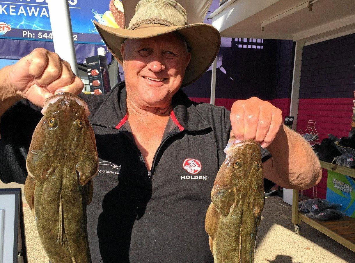 Brian woodall hit the jackpot with two quality flathead out of the Maroochy River.