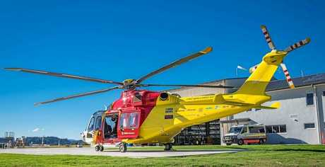 The new chopper at the new Lismore base.