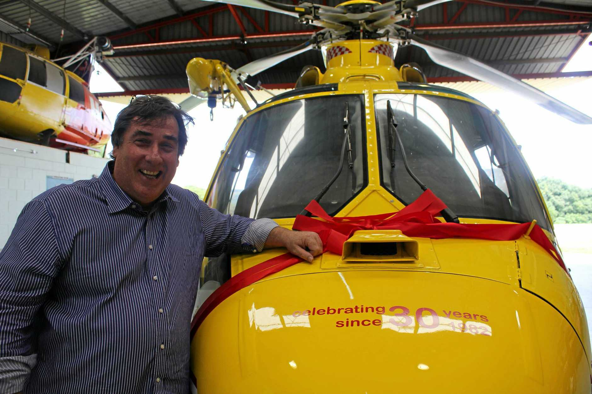 Elton Cummings, founder of the Westpac Life Saver Rescue Helicopter in the Northern NSW Region celebrates 30 years of the service saving lives.
