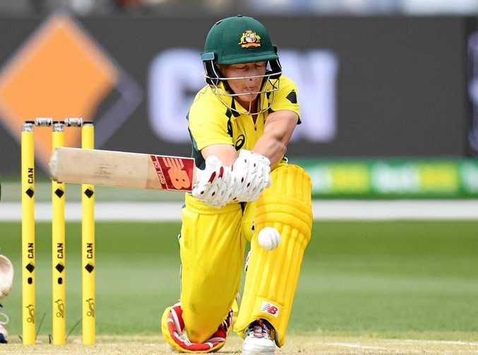 CAPTAIN'S KNOCK: Meg Lanning's unbeaten century steers Australia to a record win over Sri Lanka.