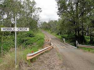 Emergency repairs to divert traffic at Hobble Creek Bridge
