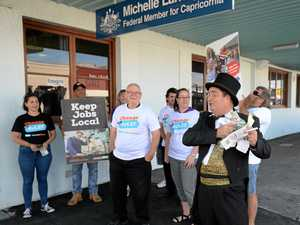Angry protesters rally outside Capricornia MP's office