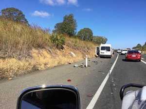 Three car pileup causes Hwy delays north of Gympie