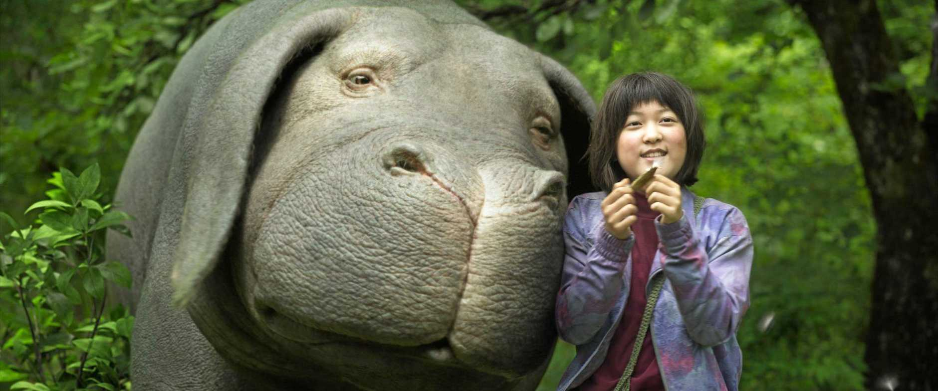 An Seo Hyun in a scene from the Netflix movie Okja. Supplied by Netflix.