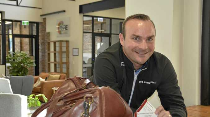 UP AND AWAY: One Global Logistics Toowoomba regional manager Shaun Chapman is off to Hong Kong, to do it his way.