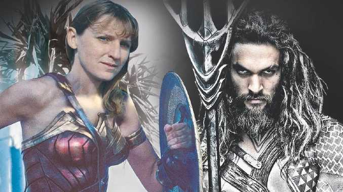 Tweed Shire Mayor Katie Milne takes on Jason Momoa's Aquaman. *Image digitally altered.