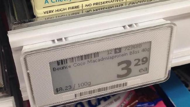 Woolworths trial electronic pricing in its Schofields store. Picture: Supplied