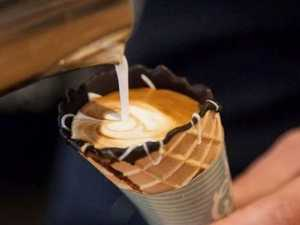 Where you can get a coffee in a cone in Toowoomba
