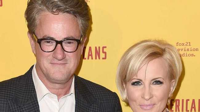 Television hosts and real-life couple Joe Scarborough (L) and Mika Brzezinski. Picture: AFPSource:AFP
