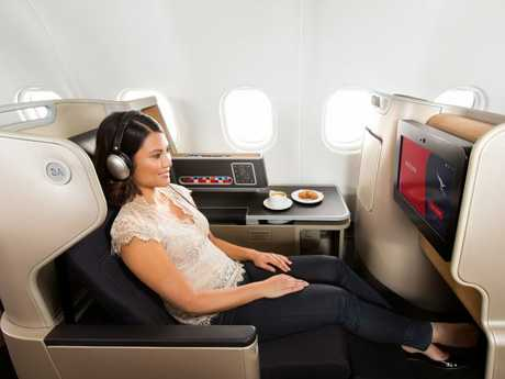 The business suite on a Qantas Airbus A330.