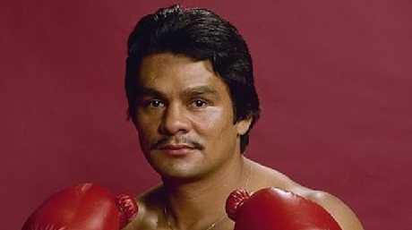 Panamanian boxing great Roberto Duran.