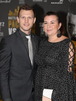 Jeff Horn with his wife Jo.