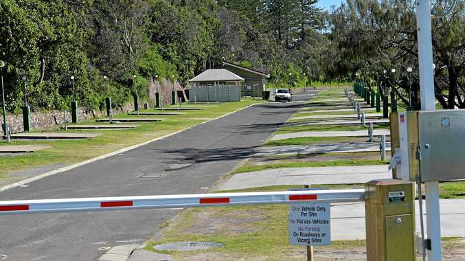 END OF AN ERA: The empty Mooloolaba Caravan Park is now ready for redevelopment.