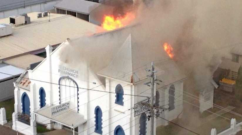 GONE: The Church Pharmacy was destroyed by fire last year.