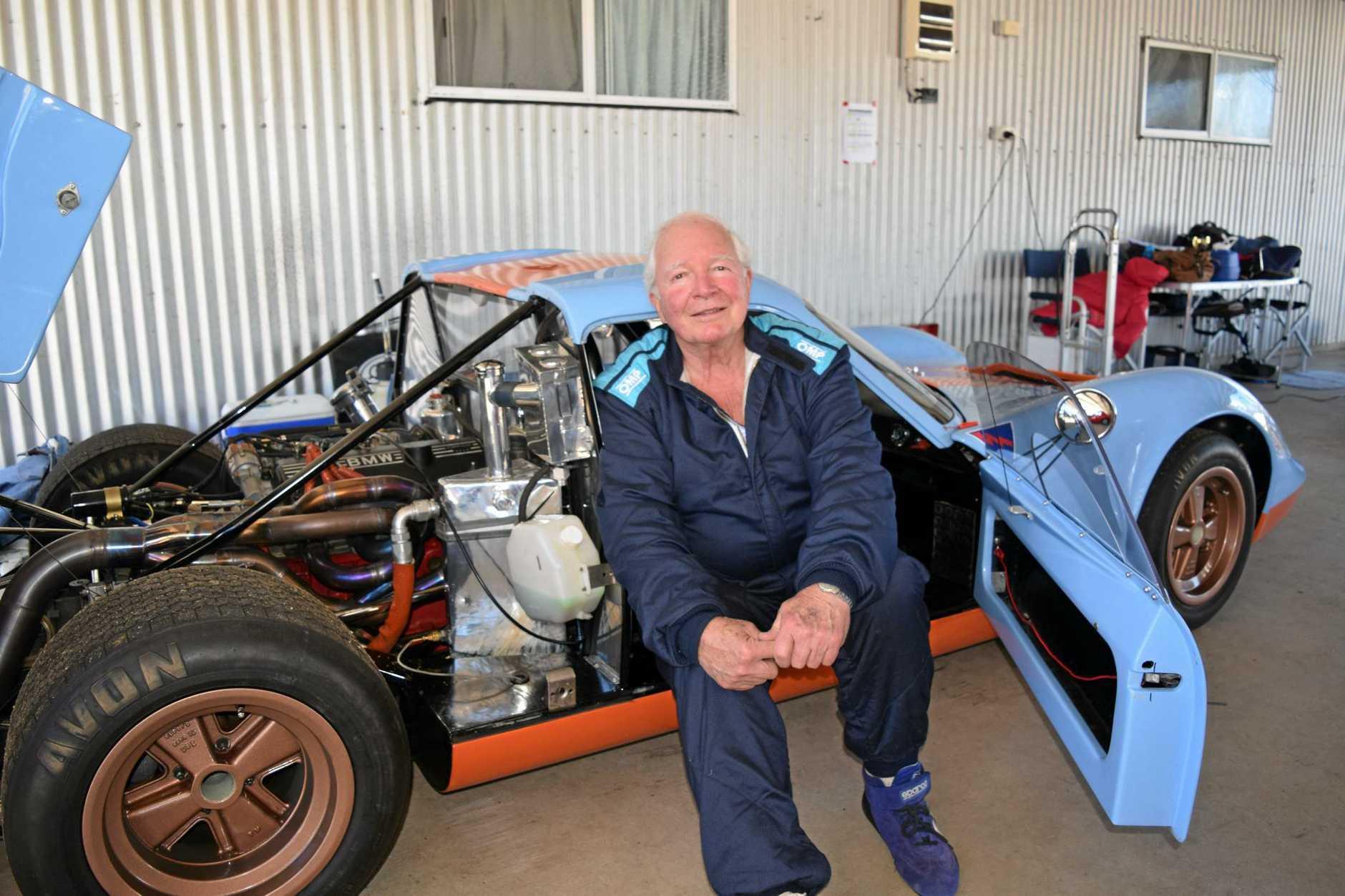 Max Brunninghausen and his Chevron B8.