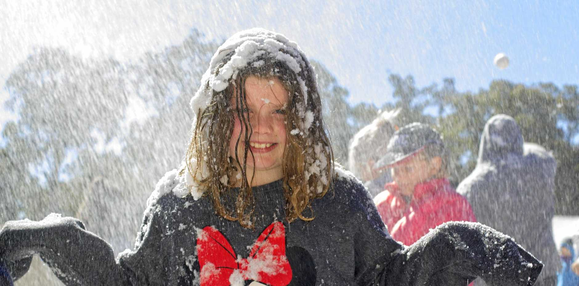 Gabby Riordan from Warwick on the snowfields at Snowflakes in Stanthorpe on Sunday, July 2.