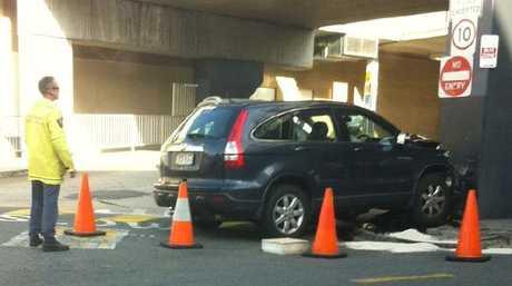Gerard Baden-Clay's car crash at Indooroopilly.