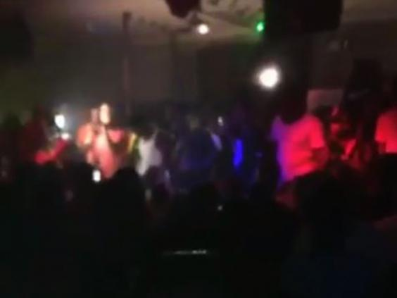Footage from inside Power Ultra Lounge in Little Rock, Arkansas