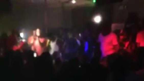Footage from inside Power Ultra Lounge in Little Rock, Arkansas