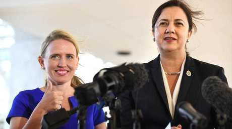 Education Minister Kate Jones with Premier Annastacia Palaszczuk