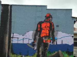 Mowing mural