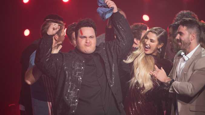 The moment Judah Kelly is crowned the winner of The Voice.