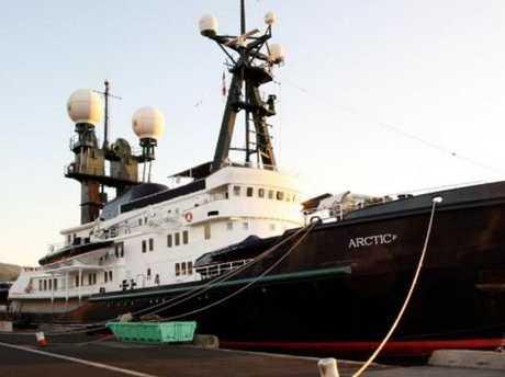 James Packer's luxury superyacht, the Arctic P.