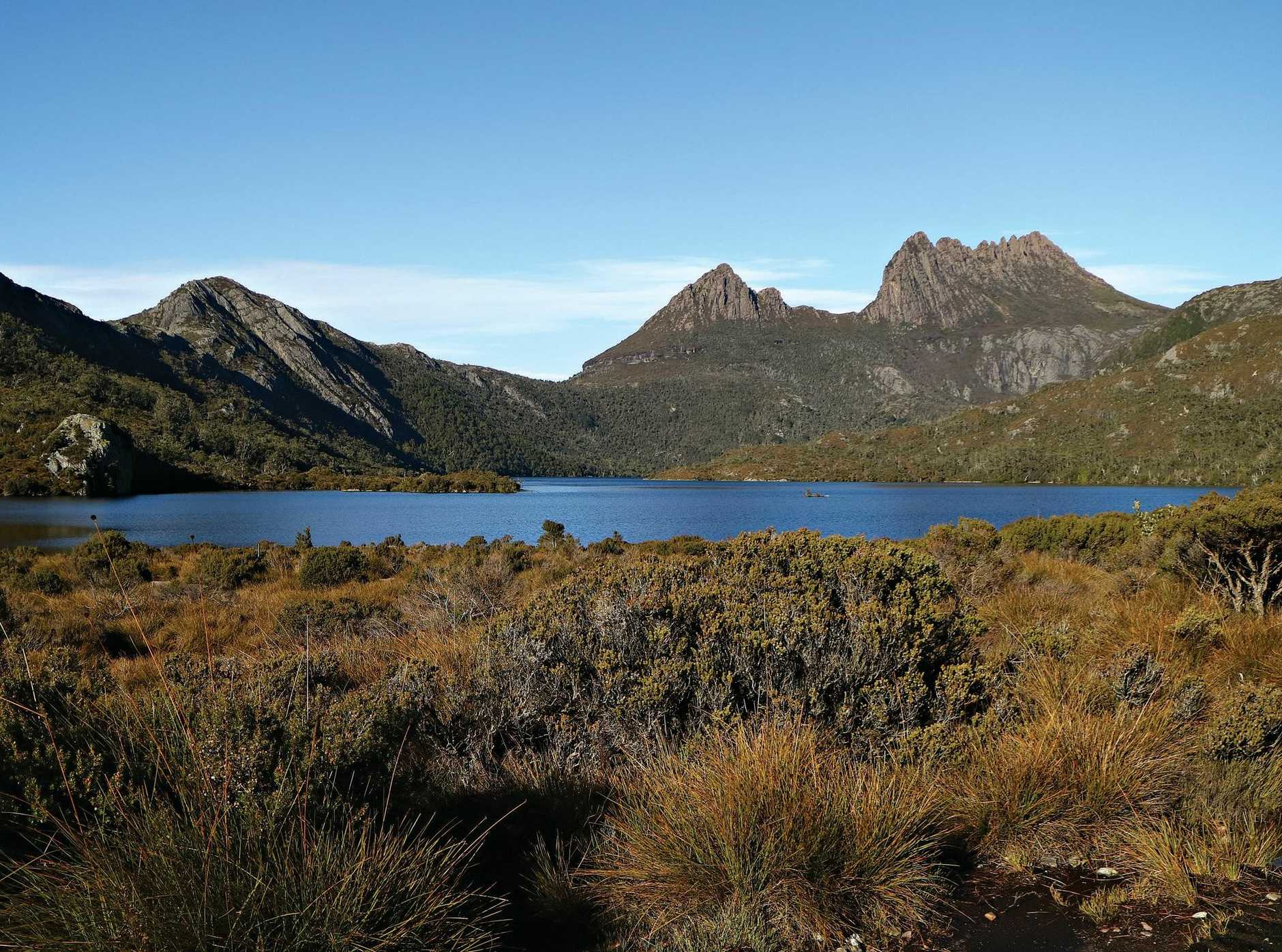 Dove Lake in the Cradle Mountain-Lake St Clair National Park.