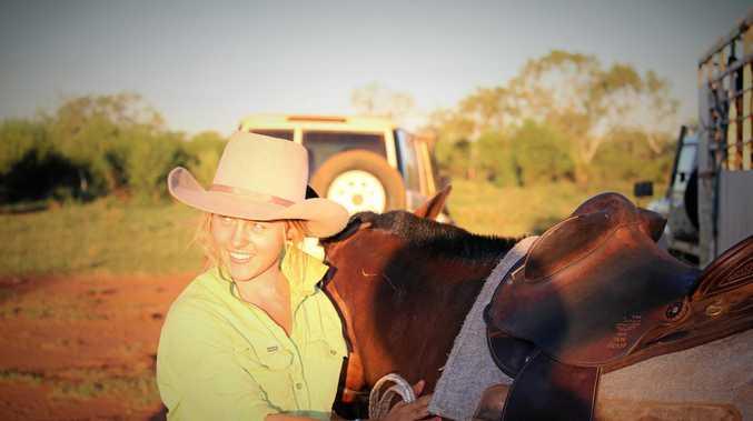 GAP YEARS: Emma Moss loves her job working on Pardoo Station in the Pilbara.