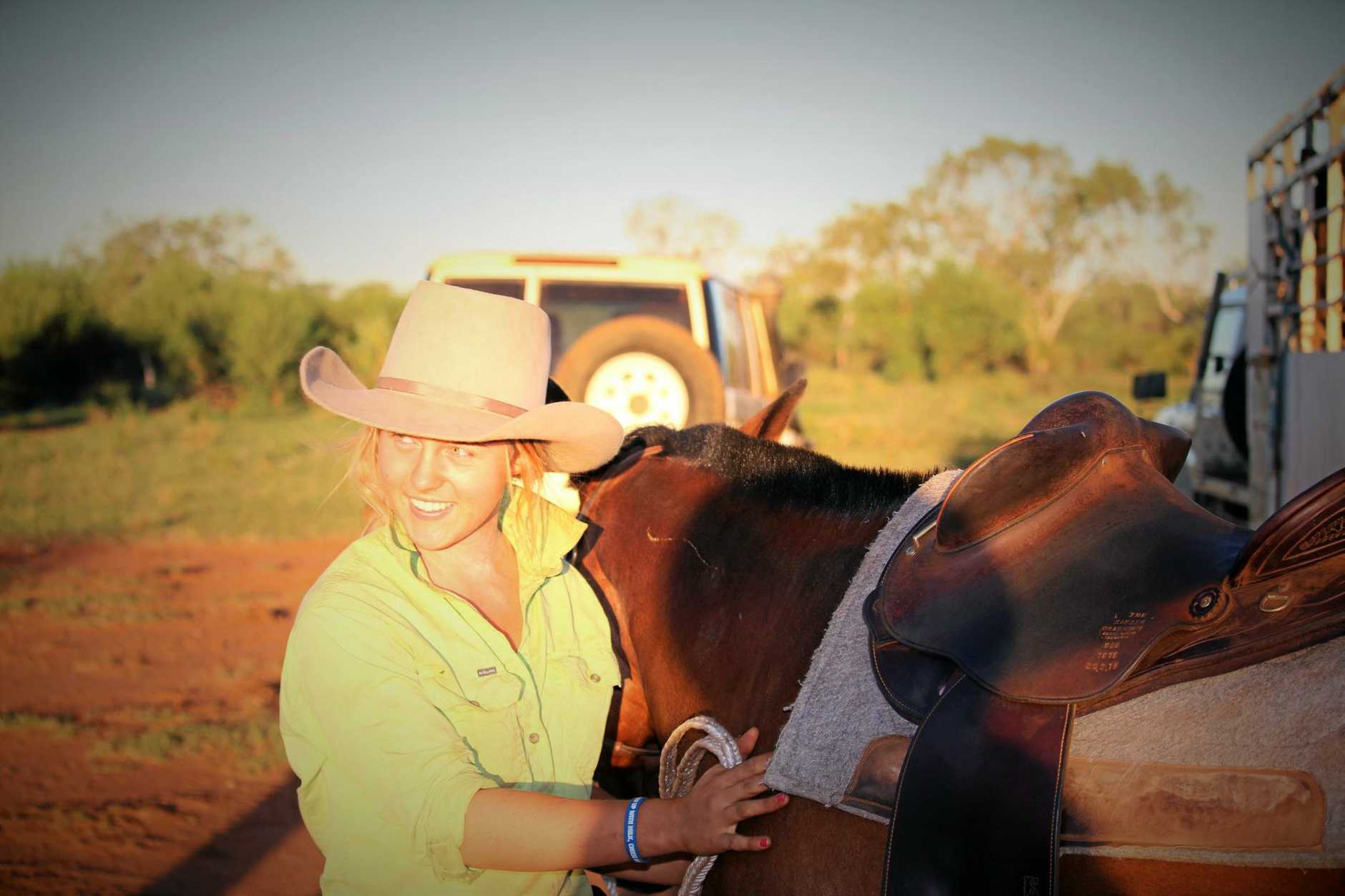 GAP YEARS: Emma Moss loves her job working on Pardoo Station in the Pilbara.