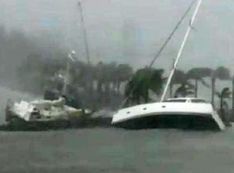 REFURBISHMENT: Boats at Hamilton Island during Cyclone Debbie