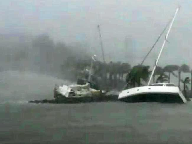 REFURBISHMENT: Boats at Hamilton Island during Cyclone Debbie
