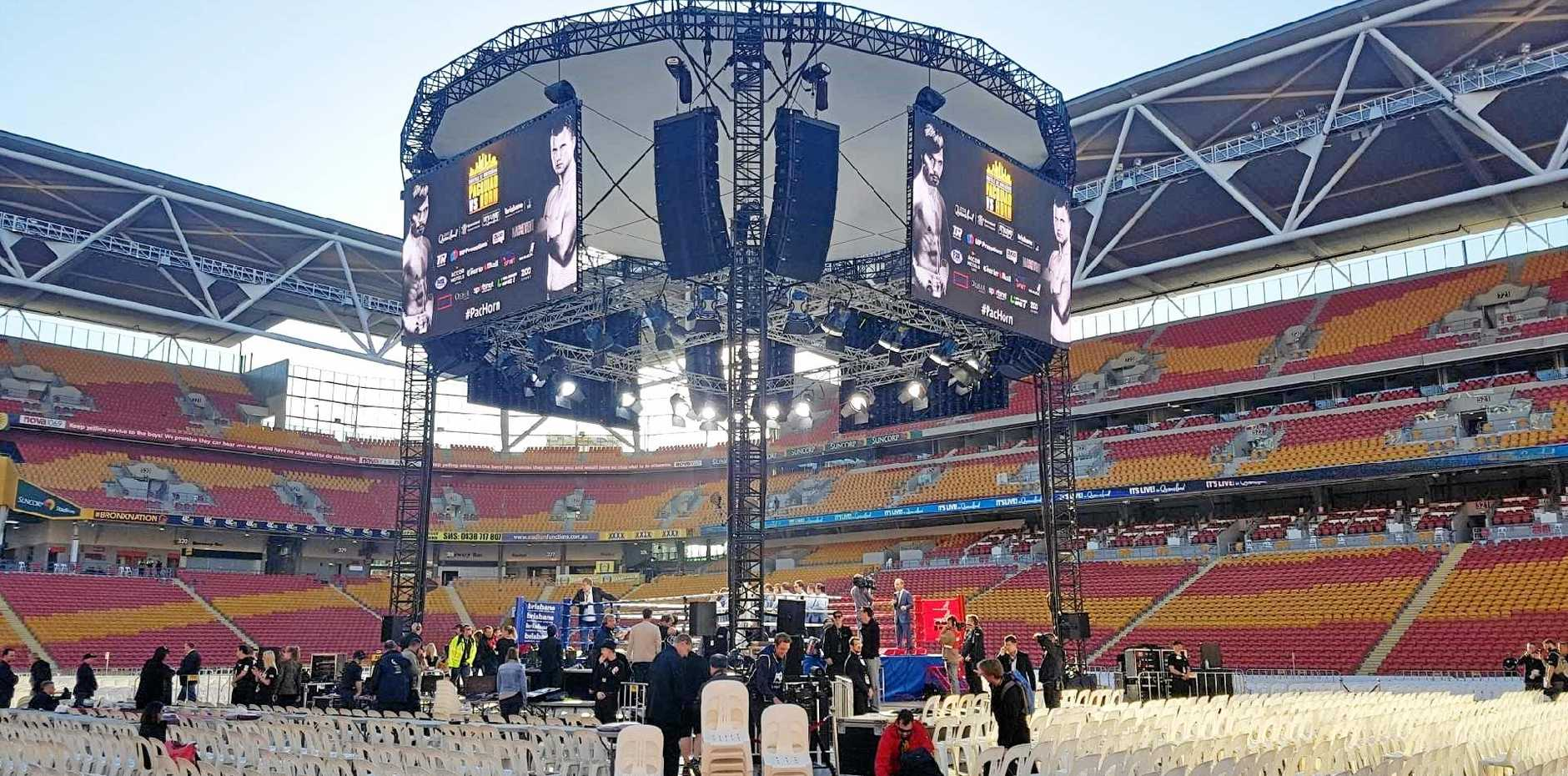 The Shamrock Boxing Club's ring was centre stage at the Pacqiao-Horn world title fight at Suncorp on Sunday.