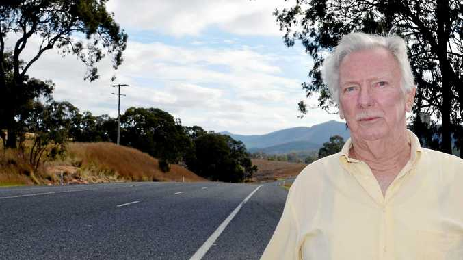 DEATH TRAP: Resort owner Ray Vincent has been fighting for a turning lane on Cunningham Hwy to avoid road crashes.