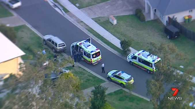 A child has reportedly been injured at a home on Aramac Street in Brassall