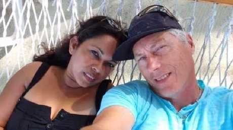Killed cyclist Steve Jarvie and fiancee Linda Ellis.