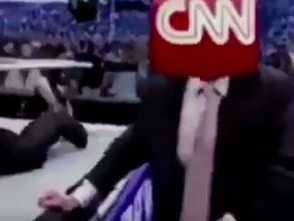 Trump mocks CNN by making bizarre wrestling video