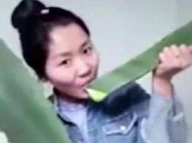 Chinese vlogger Zhang was rushed to hospital when she accidentally ate a poisonous plant instead of harmless aloe vera.