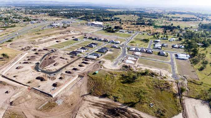A birds eye view of Plainland Crossing as at June 28.