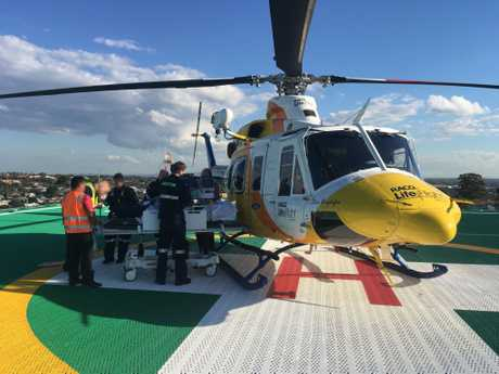 A Brisbane-based rescue chopper has also had a busy day airlifting two young boys from Cherbourg Hospital.