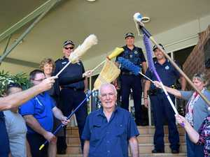 Police cleaner hangs up mop after two decades on the force
