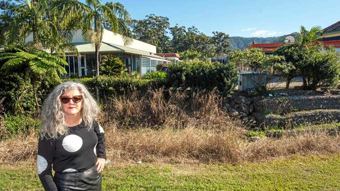 MESSED UP: Resident Karen Lagalla is unhappy with the state of the Bray St complex.