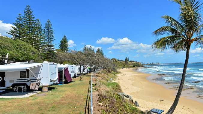 THE State Government wants Sunshine Coast Council to consider amending its foreshore plan for Mooloolaba to include retention of a caravan park.